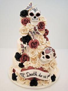 Sugar skull wedding cake Mehr