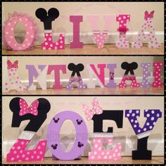 Minnie Mouse Wooden Letters by CreativeDreamsEvents on Etsy