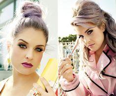 purple lips with nude eyes
