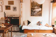 Quite possibly my favourite house tour of all time;Alex's Stylish Small Home in a Converted Garage, Apartment Therapy.