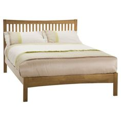 Serene Furnishings Mya Bed - Honey Oak - Small Double