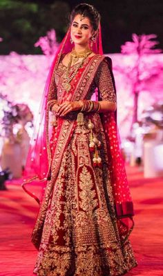 Indian Bridal Lehenga Red Brides Wedding Outfits Ideas For 2019