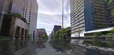Veja como sua rua ficaria após o aquecimento global: http://glo.bo/1jEOTXz
