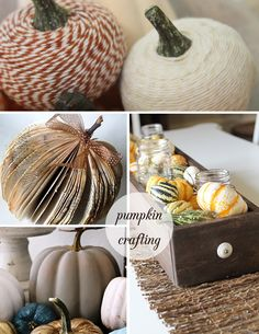 pumpkin crafting round-up for FALL via Sisters of Nature