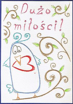 Embroidery on paper by AgaPiechocinska (inion_mekhi / piechot)