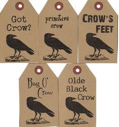 crow hang tags
