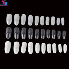 500pcs Oval Clear/Nature/White Fake Nails Salon Full Cover French Unhas Artificiais Acessorios Para Mulher Press On Nails Cheap