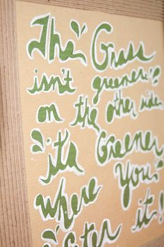 Grass Isn't Greener On The Other Side by SimplistiCreations $30