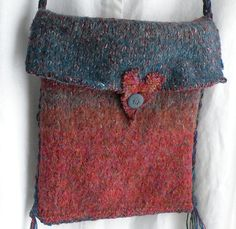 wool purses on esty | Felted wool handbag, medium purse, Bohemian Bag, bf heart ... | Purses