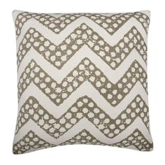 Brown Mushroom Chevron Design Throw Pillow