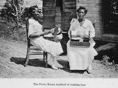 Lace making. Puerto Rico 1920's