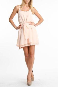 Rieley Embellished Hem Tank Dress In Peach - Beyond the Rack