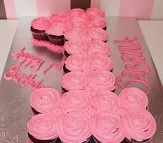 1st Birthday Cupcake Cake but in a diff color of course- could do any number