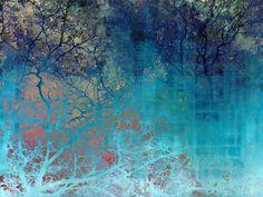 On the verge of Blue Art Print