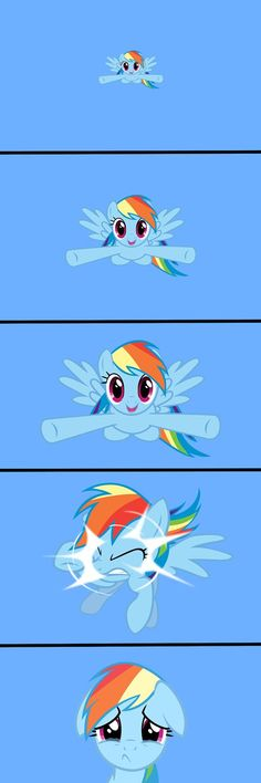 Rainbow Dash Dilemma by - A Member of the Internet's Largest Humor Community Dessin My Little Pony, Mlp My Little Pony, My Little Pony Friendship, Equestria Girls, Raimbow Dash, Mlp Comics, Funny Comics, Little Poni, Mlp Pony