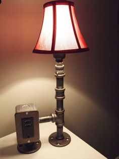 Vintage style table or desk lamp with USB charging by BossLamps