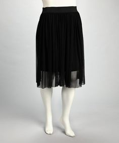 Take a look at this CANARI Black Plus-Size Accordian Skirt by CANARI on #zulily today!