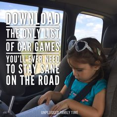 This is the only list of car games you'll ever need to stay sane on the road #roadtrip #roadtripentertainment #cargames #travel #travelwithkids #kidsgames #kidsactivities
