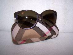 Authentic Burberry Sunglasses B 4088-M Cat-Eye Frame Signature Pattern Earpieces $100.00