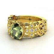 Oval Aquamarine Platinum Ring with Diamond | Mantilla Ring | Gemvara  I love this!