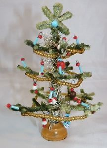 Kleiner Weihnachtsbaum- Christbaum- Puppenstube- Gablonz- alt