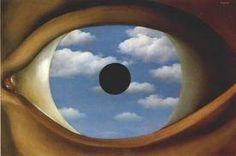 René Magritte * Le faux miroir 1935 * Azur... Laisse-moi me mirer Au plus profond de tes lacs