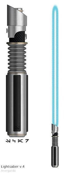 Lightsaber by Ariergarda on DeviantArt Blue Lightsaber, Lightsaber Design, Custom Lightsaber, Lightsaber Hilt, Star Wars Rpg, Star Wars Jedi, Star Trek, Sabre Laser, Star Wars