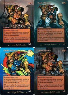 Goblin Piledriver alters | mtg card altered art