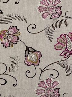 DecoratorsBest - Detail1 - CC F0379/06 - Bukhara - Berry - Fabrics - DecoratorsBest