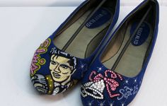 Super cute handmade Elvis shoes from KUSTOMKICKZ on Etsy