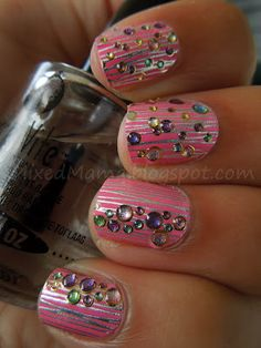 Sephora Nail Bling in Pretty in Pink #nails #formalapproach Add to a fun ballgown like Paparazzi 93025 for added fun