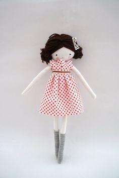 Handmade rag doll ooak cloth art rag doll by lassandaliasdeana
