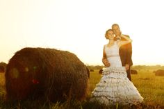 Wedding photos in the fields