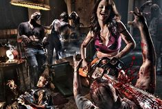 what a happy zombie killer Zombie Gear, Zombie Apocalypse Survival, Zombie Apocolypse, Zombie Walk, Post Apocalypse, Horror Show, Horror Art, Samhain Halloween, The Revenant