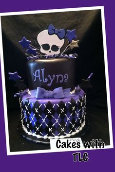 Purple Monster High Cake..if i go with purple
