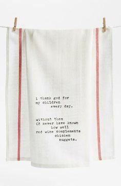 'Thank God for Children' Towel