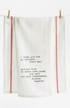 'Thank God for Children' Towel