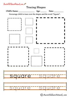 math worksheet : tracing shapes squares  preschool occupational therapy ideas  : Square Worksheets