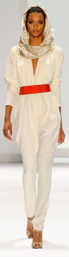 Brazil -Carlos Miele (chic jumpsuit & scarf style)