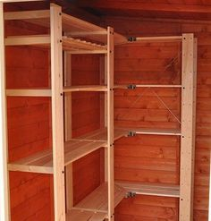 Basement storage room. GORM shelving from IKEA
