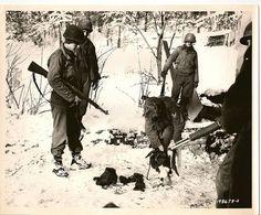 Captured German Infiltrator, Bulge, 1944.