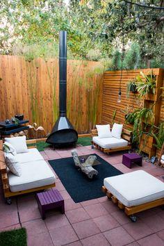 Our Garden The Horticult Garden – Ryan Benoit Design— sectional furniture Diy Garden Furniture, Garden Sofa, Outdoor Rooms, Outdoor Living, Outdoor Decor, Backyard Patio, Backyard Landscaping, Patio Interior, Small Patio