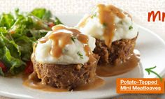 Potato-Topped Mini Meatloaves