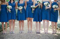 My wonderfully beautiful ladies will be choosing the style that they like, I picked the color...Marine blue. :)