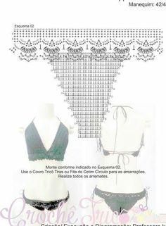 ideas for crochet bikini top womens swimwear Motif Bikini Crochet, Crochet Shorts, Crochet Woman, Knit Or Crochet, Crochet Clothes, Crochet Lingerie, Crochet Summer Dresses, Dress Summer, Crochet Patterns