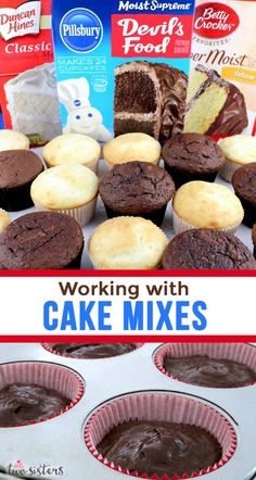 Our favorite Tips and Tricks on How to Doctor a Boxed Cake Mix! We show you how to improve and work with cake mixes to make them taste just like homemade but even better. If you are looking for how to make a box cake mix taste delicious – this[. Box Cake Recipes, Cupcake Recipes, Baking Recipes, Cupcake Cakes, Cake Mix Cupcakes, Baking Ideas, The Cake Mix Doctor, Doctor Cake, Cake