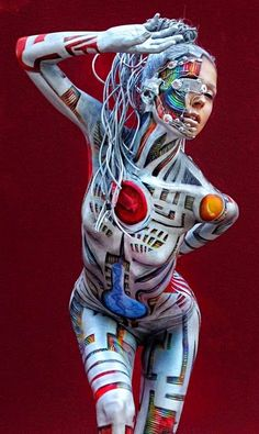 Robot - Body Paint - THE PILINGUI'S HOUSE