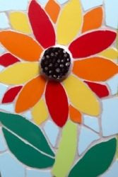 A small mosaic sunflower