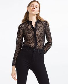 Zara -  black LACE SHIRT -------------- 29.95€