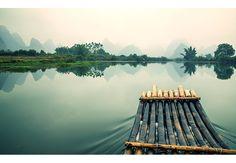 Fototapete Floßfahrt in China